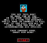 Kill the Dog from Duck Hunt Browser Instructions