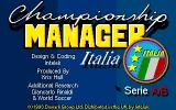Championship Manager Italia Amiga Title screen