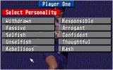 Championship Manager Italia Amiga The player can choose the personality of his manager.