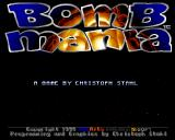 Bombmania Amiga Main menu