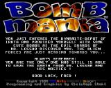 Bombmania Amiga Plot time!