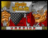 Castle Warrior Amiga Title screen