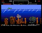 The Deep Amiga An explosion after we hit an enemy with our rockets.