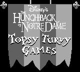 Disney's The Hunchback of Notre Dame Game Boy Title screen