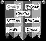 Disney's The Hunchback of Notre Dame Game Boy Main menu