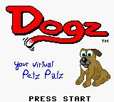 Dogz Game Boy Color Title screen