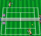 Super Final Match Tennis SNES Serving