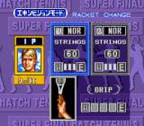 Super Final Match Tennis SNES Racket change