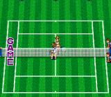 Super Final Match Tennis SNES Opponents shake hands at the end of the match