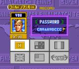 Super Final Match Tennis SNES Tournaments are held throughout the world