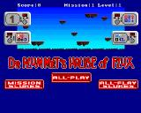 Dr. Plummet's House of Flux Amiga Main menu