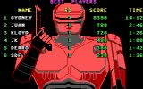 RoboCop DOS The high score screen