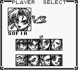 Battle Arena Toshinden Game Boy Player select