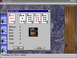 MVP Cribbage Deluxe Windows After the hand has been played the game shows each players holding and score