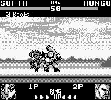 Battle Arena Toshinden Game Boy Kick him!