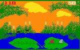 Frog Bog Intellivision The sun begins to set near the end of the game