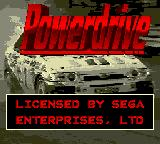 Power Drive Game Gear Title screen