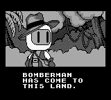 Bomberman GB Game Boy Intro