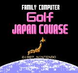 Family Computer Golf: Japan Course NES Title screen
