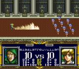Der Langrisser SNES Special attack - enemy is quite strong.