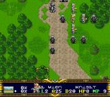 Der Langrisser SNES Strategy view. 1 unit - 10 trooper/1hero.
