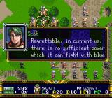 Der Langrisser SNES monologue in the middle of battle