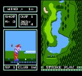 Family Computer Golf: Japan Course NES Taking a swing