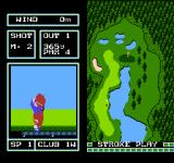 Family Computer Golf: Japan Course NES The ball is in the air