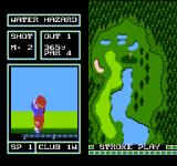 Family Computer Golf: Japan Course NES Water hazard