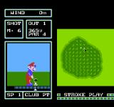 Family Computer Golf: Japan Course NES Putting on the green