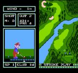 Family Computer Golf: Japan Course NES The 2nd hole