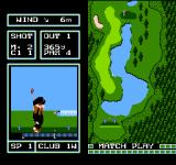 Family Computer Golf: Japan Course NES Playing against the computer in Match play