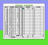 Family Computer Golf: Japan Course NES Scorecard