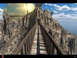 Riven: The Sequel to Myst iPad Turning around on the iron foot bridge you notice the Great Golden Dome