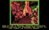 The Crack of Doom DOS The game begins on an uneven staircase (CGA)
