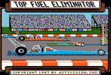 Top Fuel Eliminator Apple II Title screen
