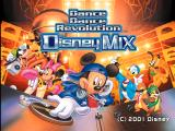 Dance Dance Revolution: Disney Mix PlayStation Title screen