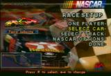 NASCAR 98 PlayStation Main Menu