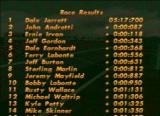 NASCAR 98 PlayStation After Race Results