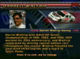 NASCAR 99 PlayStation Looking at a drivers information