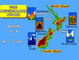 The New Zealand Story SEGA Master System Map of New Zealand