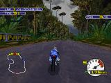 Moto Racer 2 PlayStation Racing with rain conditions in the jungle
