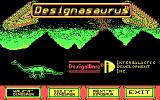 Designasaurus DOS title screen