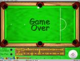 "Snooker 147 Windows Game Over. This is followed by two related screens, the first says ""Player X"" and the second says ""Wins!"". These three cycle round until the player either starts a new game or exits."