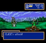 Shining Force II Genesis Slade attacks witch