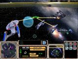 Star Trek: Armada Windows Federation fending-off Borg ships.