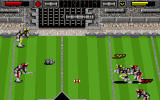 Brutal Sports Football DOS Opponent runs for ball,  my player waits with sword. Good tactics. :D