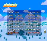 WakuWaku Ski Wonder Spur SNES Finishing times