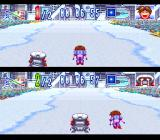 WakuWaku Ski Wonder Spur SNES 1 on 1 battles can be between 2 players or be player versus computer