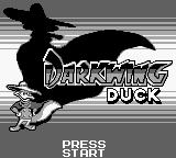 Disney's Darkwing Duck Game Boy Title screen